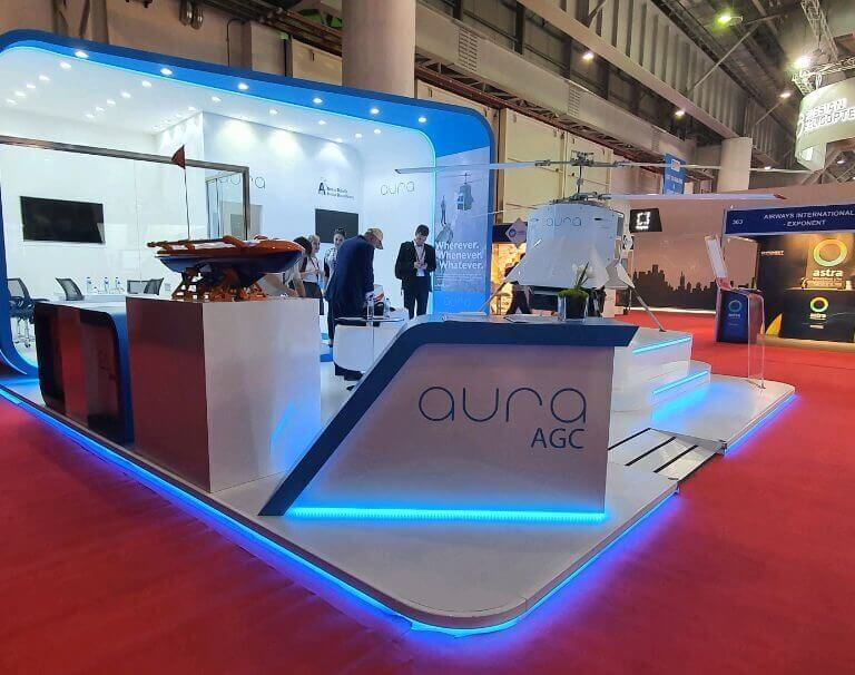 AGC introduced the AURA100 unmanned aerial vehicle in the international arena for the first time